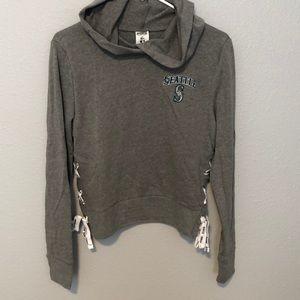 NEW never worn Victoria Secret PINK crop hoodie
